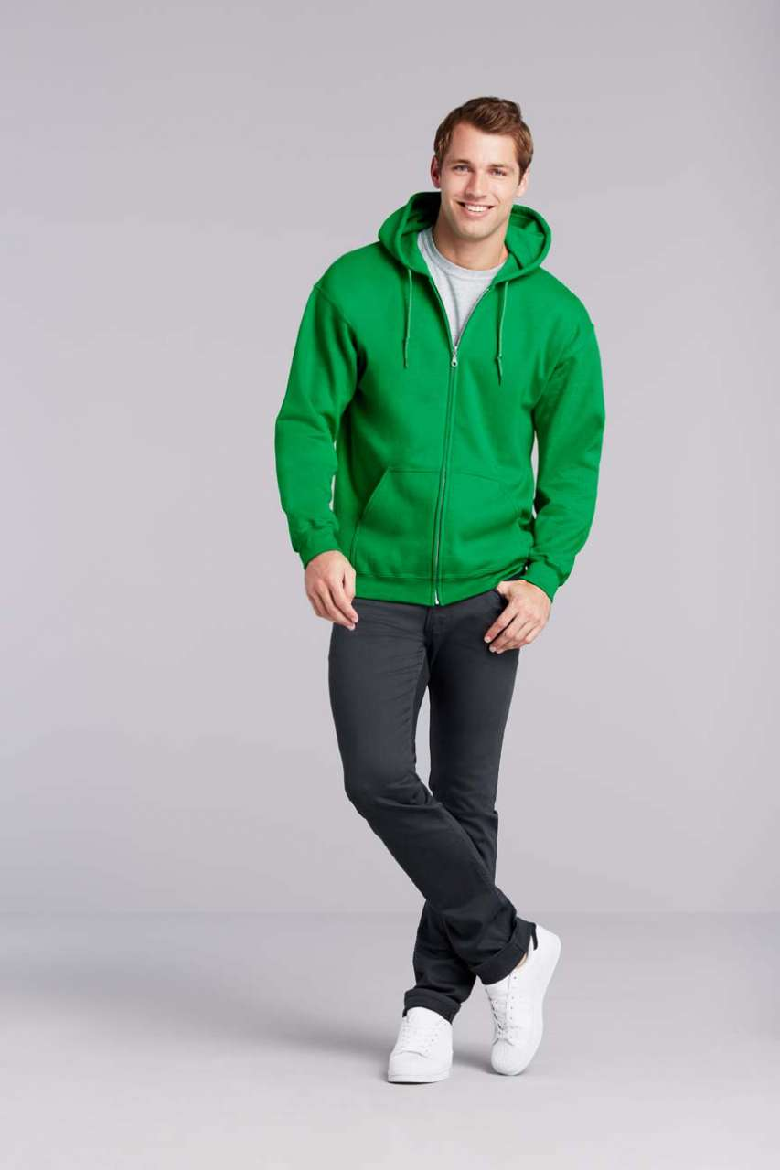 GI18600 HEAVY BLEND™ ADULT FULL ZIP HOODED SWEATSHIRT
