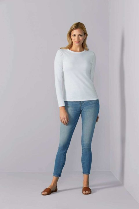 GIL64400 SOFTSTYLE® LADIES' LONG SLEEVE T-SHIRT
