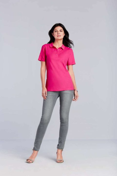 GIL64800 SOFTSTYLE® LADIES' DOUBLE PIQUÉ POLO