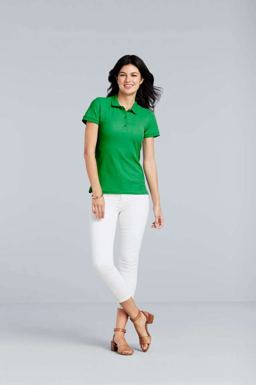 GIL85800 PREMIUM COTTON® LADIES' DOUBLE PIQUÉ POLO