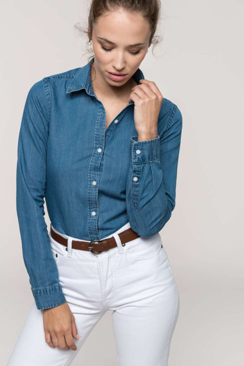 KA509 LADIES' CHAMBRAY SHIRT